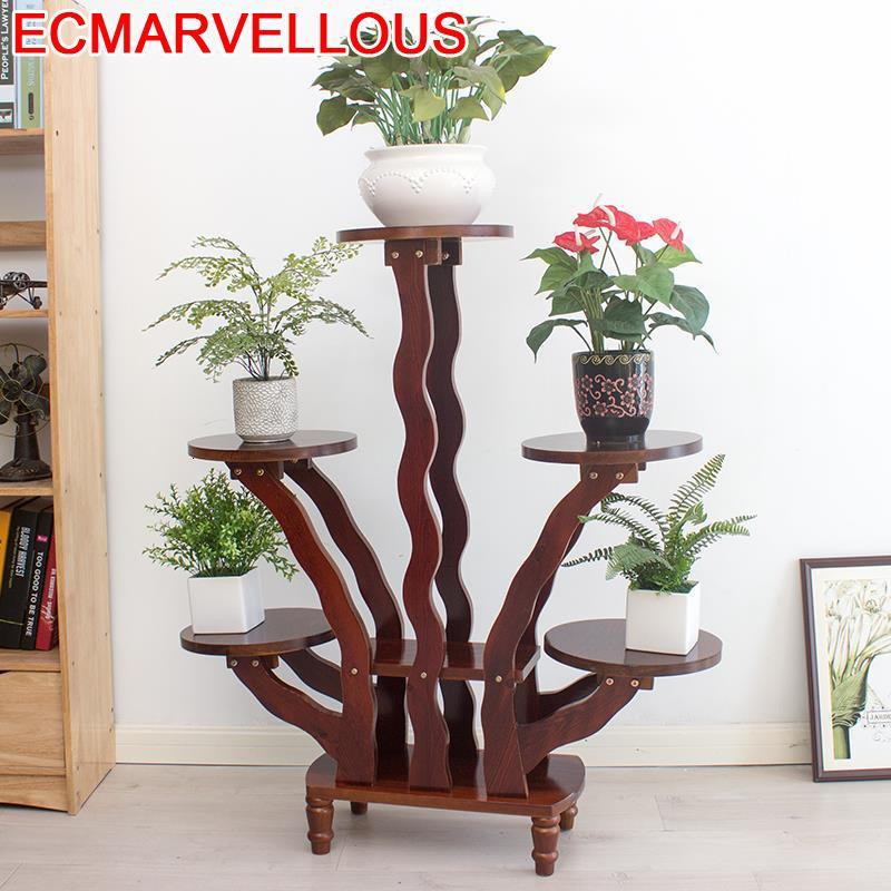 Table Pot Suporte Flores Pour Rak Bunga Etagere Plante Balkon Varanda Terraza Rack Dekoration Balcony Flower Shelf Plant Stand