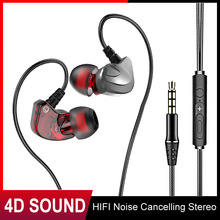 HIFI Noise Cancelling Stereo Earphones 3.5mm Sound Sport Headset Gaming Wired Heavey Stereo For Xiaomi Huawei Samsung Laptop philips original tx1 hires earphones high resolution hifi mobile noise cancelling headset for xiaomi galaxy s9 s9 plus