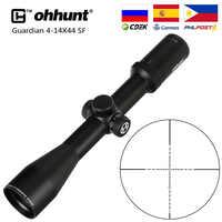 Ohhunt Guardian 4-14X44 SF Rifle de caza alcance 30mm Tubo lateral paralelo táctico Riflescopes con KillFlash cubierta y anillos de montaje