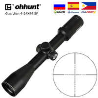 ohhunt Guardian 4-14X44 SF Hunting Rifle Scope 30mm Tube Side Parallax Tactical Riflescopes with KillFlash Cover and Mount Rings