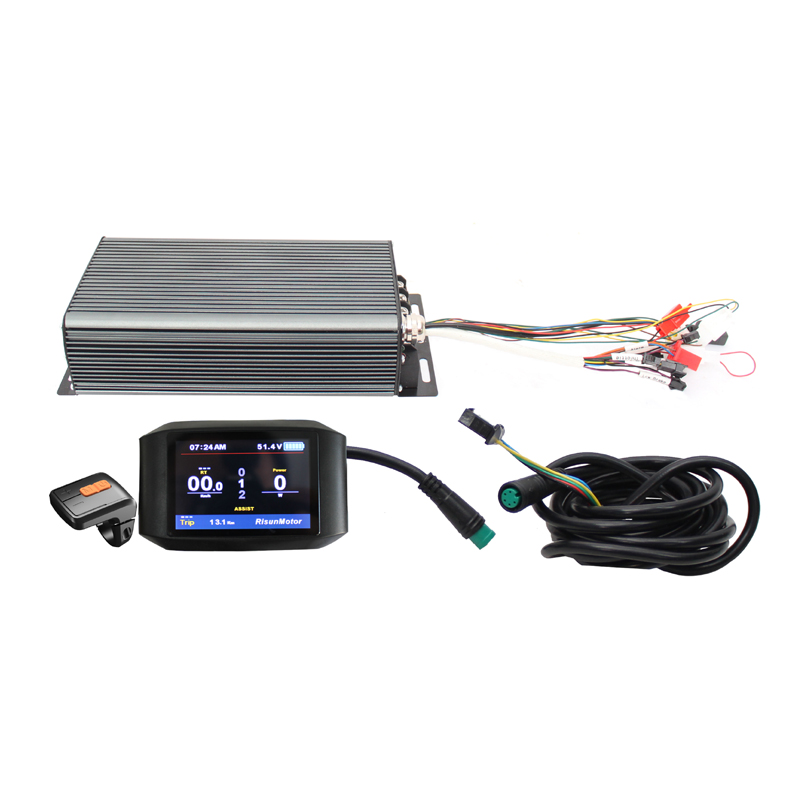Affichage couleur sans frais de l'ue Ebike 750C 48v 60v 72v 3000-5000W 24MOSFET Programmable Reg fonction 100A Kits de contrôleur de bricolage