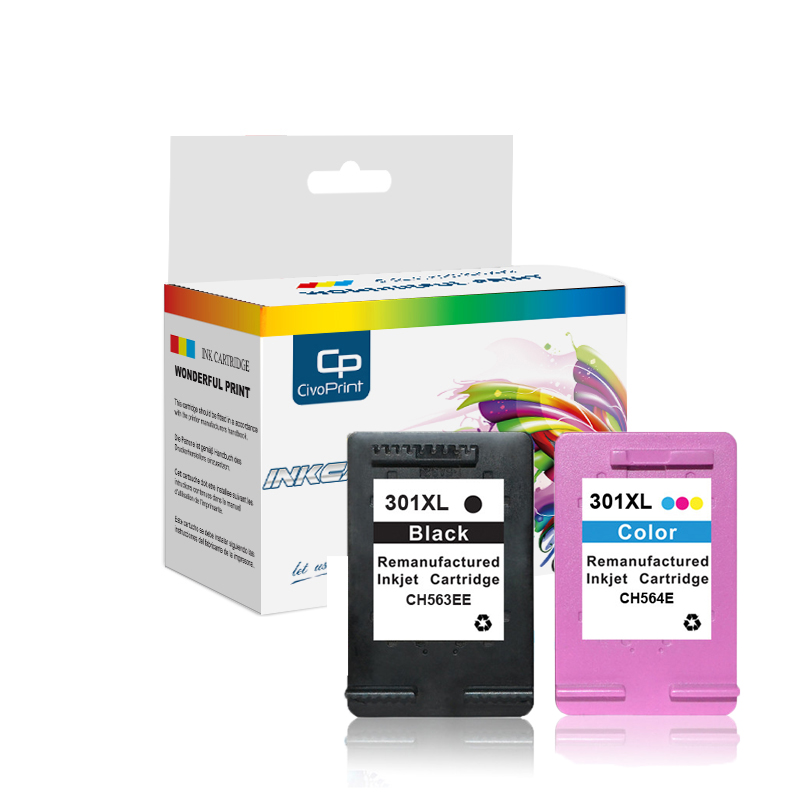 Civoprint 301XL Cartridge Compatible for hp 301 xl hp301 Ink Cartridge for hp Envy 5530 Deskjet 2052132 2133 2134 3630 printer
