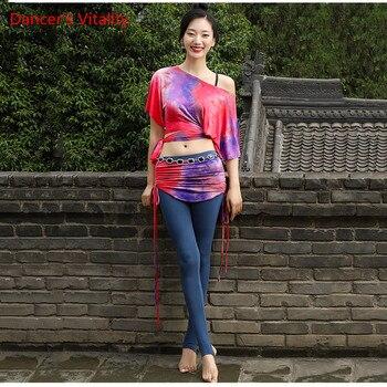 Women Autumn Winter Haft-Sleeved   Dance Costume New Belly Dance Practice Clothing Oriental Dance Skirt Sexy Pants Set haft 214310 120