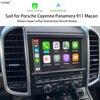 Ekran telefonu samochodowego lustro moduł Box dla Porsche Cayenne Macan CDR 3.1 PCM4.0 PCM3.1 PCM3.0 bezprzewodowy Android Auto Apple CarPlay
