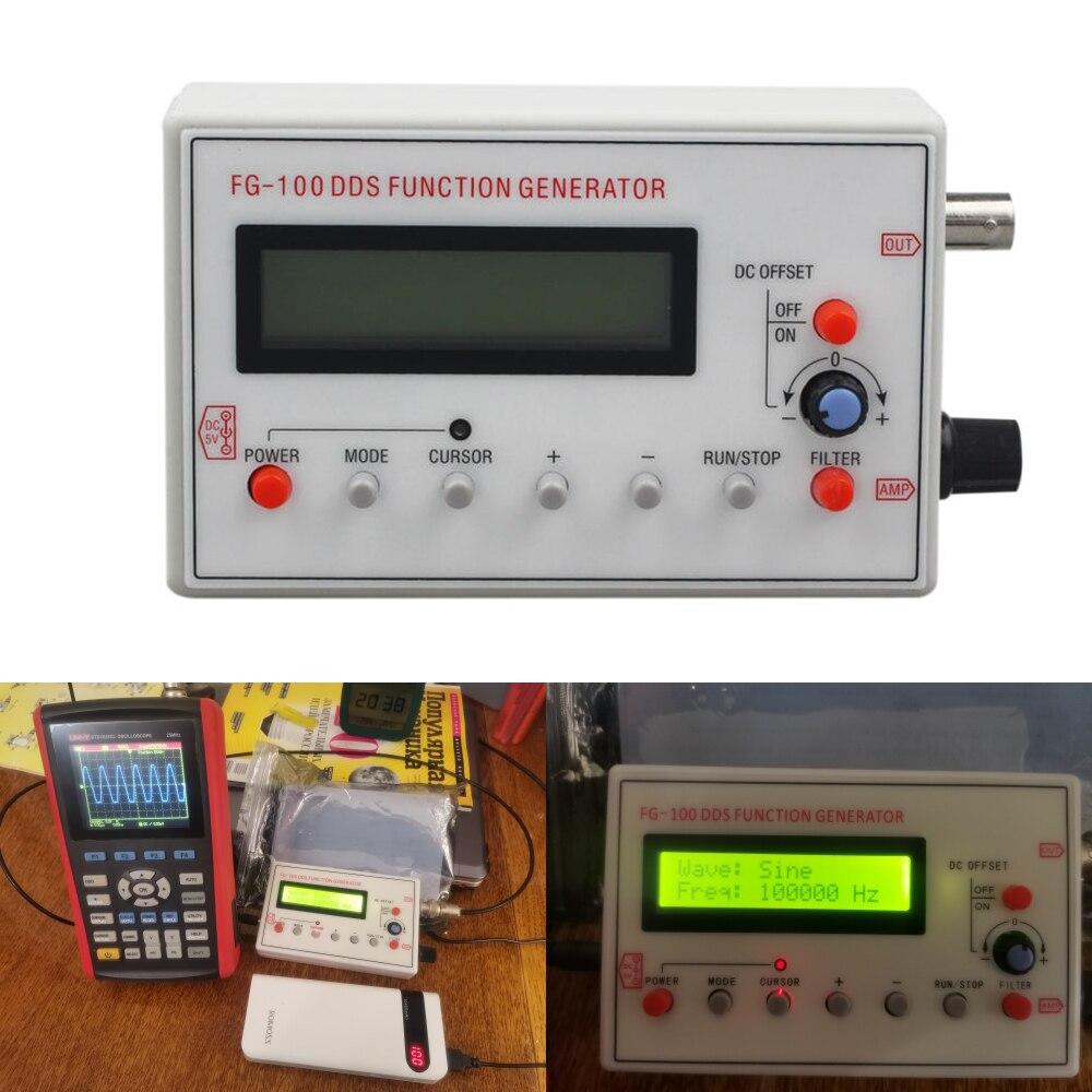FG-100 DDS функция генератора сигналов, Частотный счетчик, 1 Гц-500 кГц, модуль источника сигнала, синусоида + квадрат + треугольник + форма сигнала ...