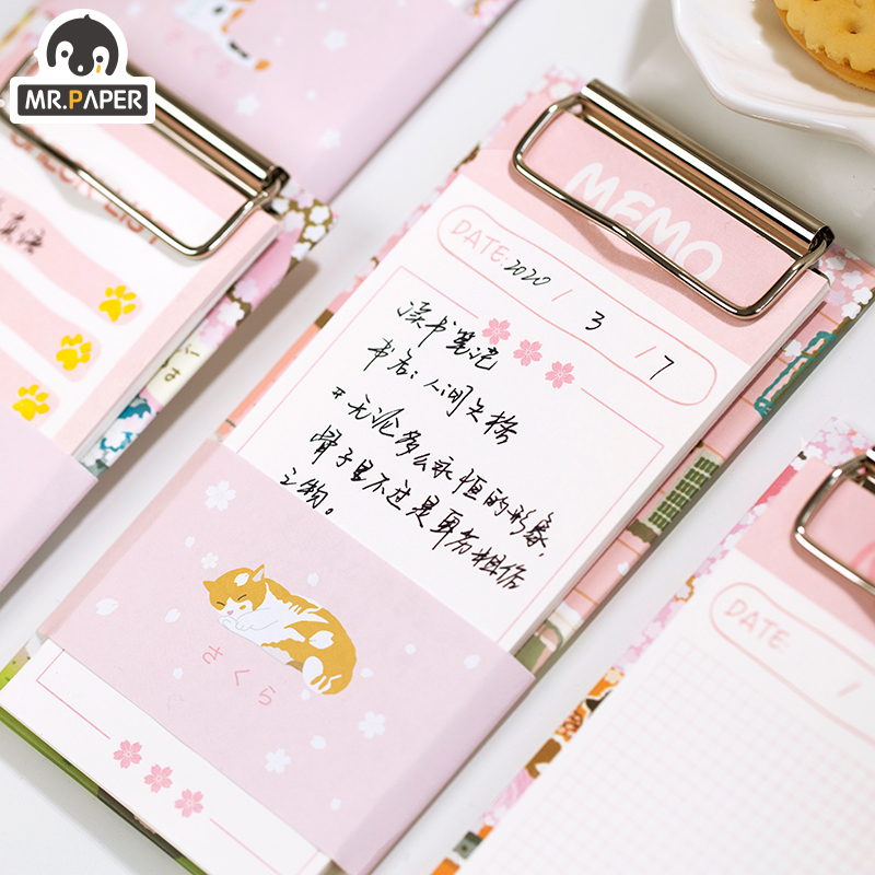 Mr.Paper 30pcs/lot 4 Designs Pink Girlish Sakura Check List Planner Loose Leaf Notepad Writing Daily Points Down Cute Memo Pads