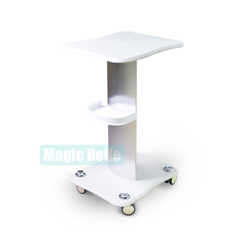 Portable Aluminum Alloy Roller Mobile Salon Use Cart Facial Care Beauty Machine Trolley Clinic Assembled Stand