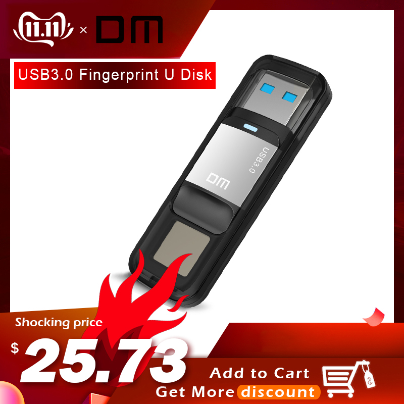 DM PD061 64GB 32GB High-speed Recognition Fingerprint Encrypted High Tech Pen Drive Security Memory USB 3.0 Flash Drives Stick