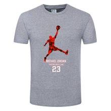 Zomer Sport Losse Ademende Mannen T-shirt, Jordan Gedrukt Casual Student Jongen 3D T-shirt, ronde Hals Korte Mouwen Meisjes Top