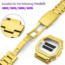 316 stainless steel watch with mens suitable for Casio DW5600 GW-5000 DW-5030 GW-B5600 GW-M5610 G-5000E solid band