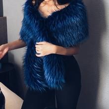 Fashion New Women Autumn Winter Faux Fur Bridal Shawl Scarve & Wraps Warm Ladies Sexy Plush Scarf For Wedding Party Wedding Cape