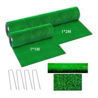 1x1M 1x2M Artificial Grass Lawn synthetic drainage Green grass Simulation Plants artificial turf set (turf + 4Pcs steel rivet)|Artificial Lawn| |  -