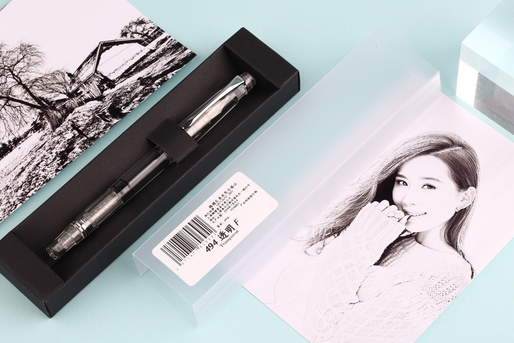 Penbbs 494 Transparent Piston Demonstrator Fountain Pen EF// F Nib Original Box