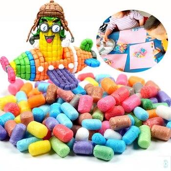 1000pcs Starch Kids Colorful Building Blocks Magic Corn Plasticine Children Child Toy kernels Intelligent Toy Birthday Gift 1