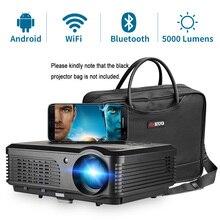 جهاز عرض CAIWEI A6/A6AB 1080p عالي الدقة للمسرح المنزلي الذكي نظام أندرويد واي فاي شاشة LCD LED لعرض الفيديو للهواتف الذكية
