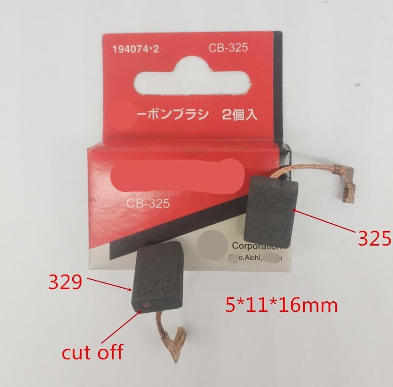 Carbon Brushes Replacement For MAKITA CB-325 CB-329 CB-318 9556NB 9556HN 9558HN 9557NB 9557HN 9556HNG  9553HN 9555HN 9553NB 9555