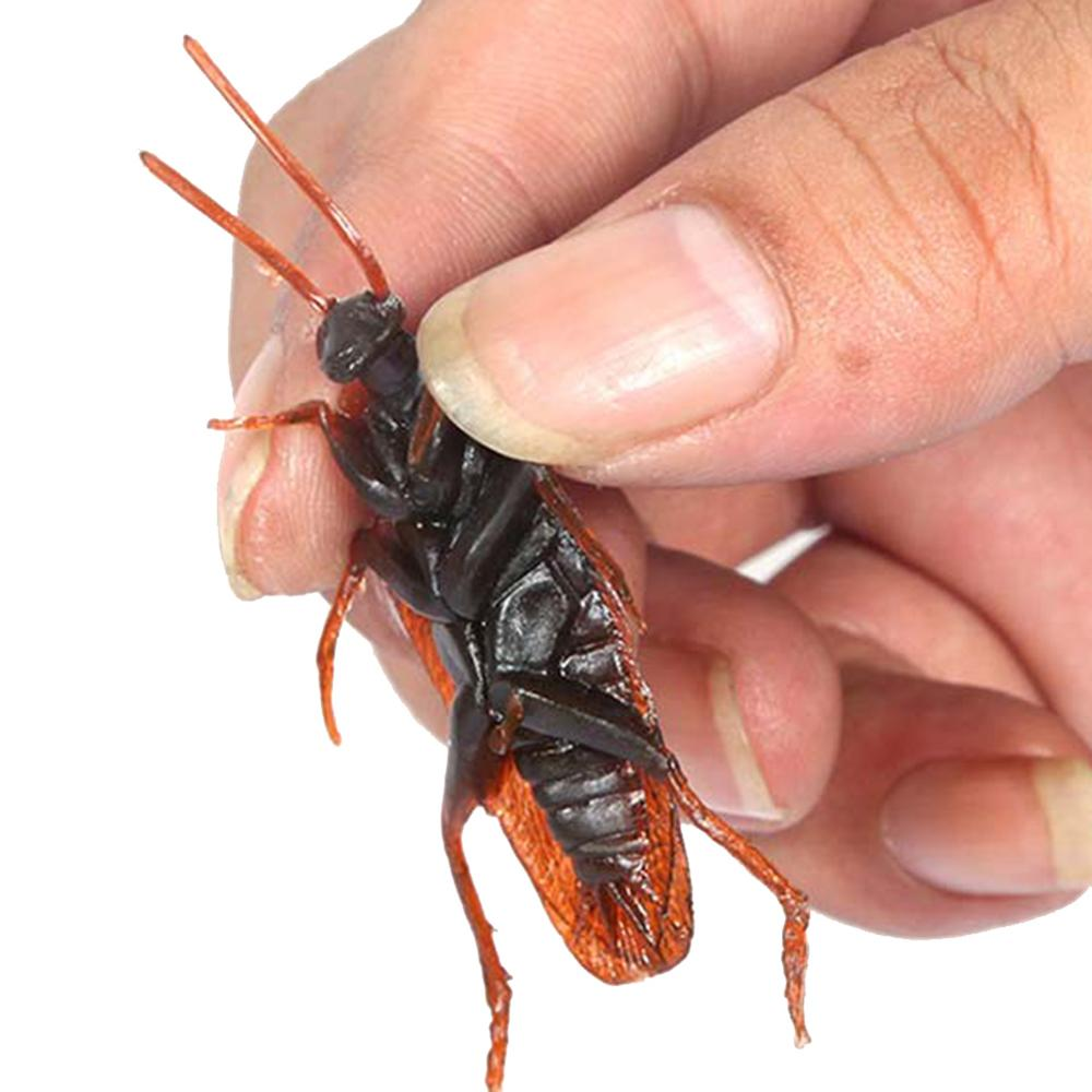 5 Pcs Fake Cockroach Ghost Toy Scared Toy April Fool's Day Tricks Props Pranks Whole People Candy Pests Simulation Scared