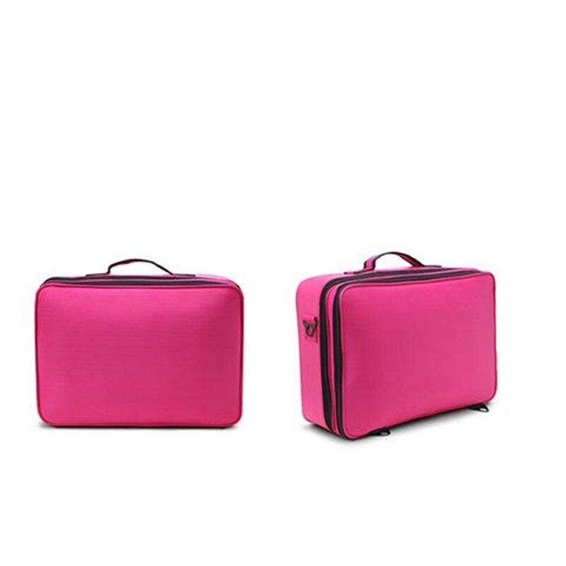 Valise de cosmétiques trois Styles | Sac de maquillage de haute qualité valise de cosmétiques multi-poches boîte de rangement doutils de maquillage boîte dorganisation cosmétique étanche