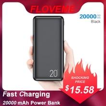 FLOVEME 2 USB Charger 20000mAh Power Bank Portable Charging