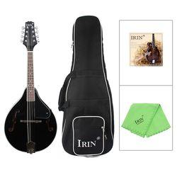 IRIN 8-Cordas Basswood Bandolim Sunburst Instrumentos Musicais com Rosewood Bandolim Instrumento De Cordas Cordas De Aço Ajustável B
