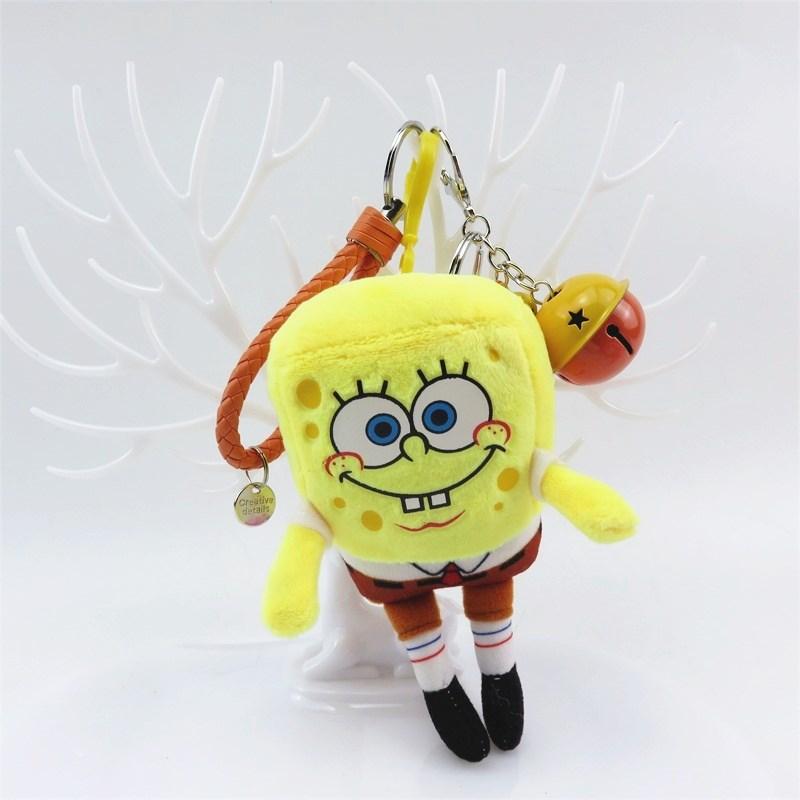 Spongebob Patrick Star Plush Toys Small Pendant Key Chains Stuffed Animals Kids Toys Creative Birthday Gifts Home Decoration