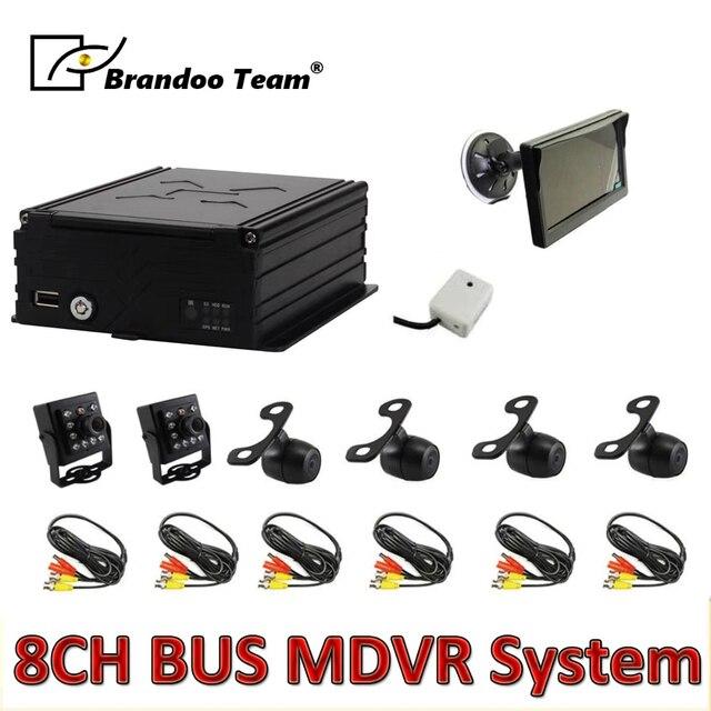6pcs 카메라 MDVR 키트, 8 채널 HDD 960H 자동차 DVR 키트 버스, 무료 배송