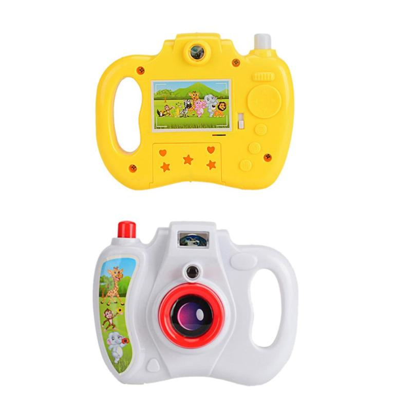 Cartoon Simulation Eight Light Patterns Projection Camera Toy For Children
