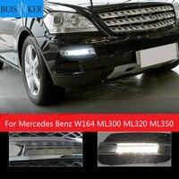 car styling For Mercedes Benz W164 ML300 ML320 ML350 2008 2009 LED DRL Daytime Running Light Daylight Waterproof Fog Head Lamp