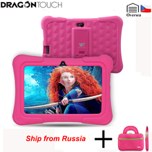 Russian warehouse Dragon Touch Y88X Plus Kids Tablet EU/US Plug Quad Core Android 7.0+Tablet bag+Screen Protector gift for Child