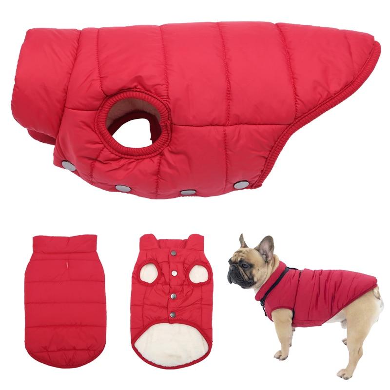 Одежда для маленьких и больших собак, Зимний Рождественский жилет для собак, куртка, теплое флисовое пальто для домашних животных, одежда дл...
