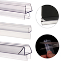 Уплотнительная лента для экрана ванной и душа, 2 шт., 1 м (50 см + 50 см), от 4 до 12 мм, уплотнительный зазор для окон и дверей, полезные Бытовые аксес...