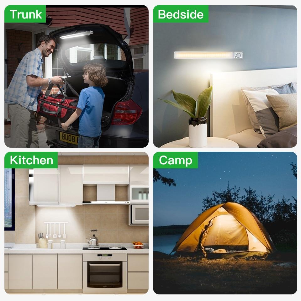Goodland Closet Light 160 LED Lights PIR Motion Sensor Light Cupboard Wardrobe Night Lamp For Kitchen Bedroom Cabinet Backlight 6