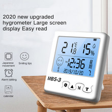 TECLASER Electronic Digital Temperature Humidity Meter Monitor For Home Greenhouse Hygrometer Thermometer weather station Clock