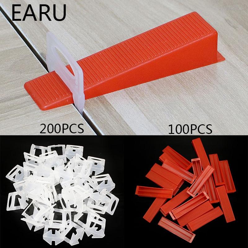 1/1.5/2/2.5/3mm Plastic Ceramic Tile Leveling System Clips + Wedges Tiling Floor Wall Carrelage Tools Spacers Locator Leveler