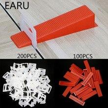 300 Pcs Plastic Keramische Tegel Leveling Systeem 200 Clips + 100 Wiggen Betegelen Vloer Muur Carrelage Tools Clips Spacers Locator leveler