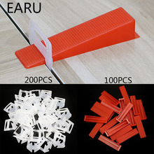 300pcs פלסטיק קרמיקה פילוס מערכת 200 קליפים + 100 טריזי ריצוף רצפת קיר Carrelage כלים קליפים מרווחי איתור פלס