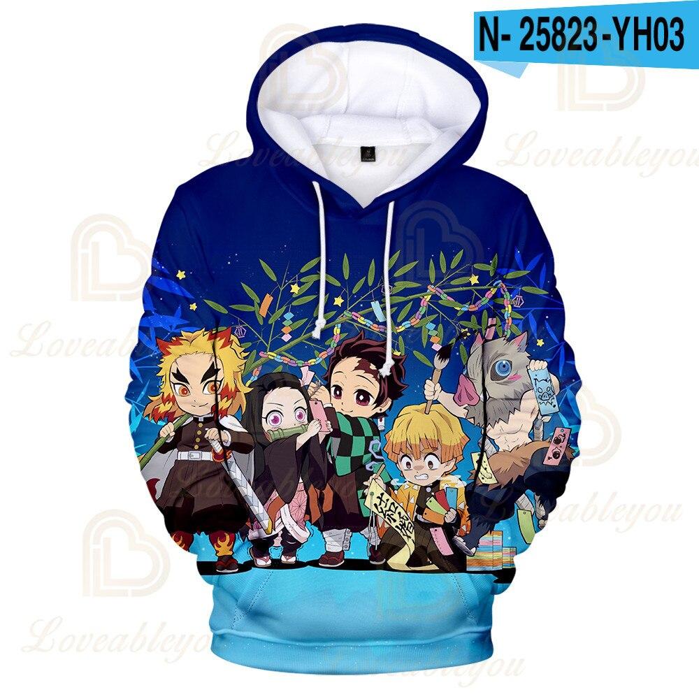 Купить аниме демон slayer косплей дети балахон уличная одежда kimetsu