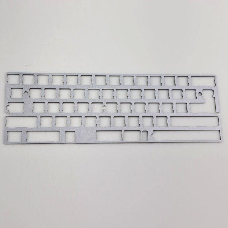 60% dz60 placa para diy teclado mecânico placa aço inoxidável gh60