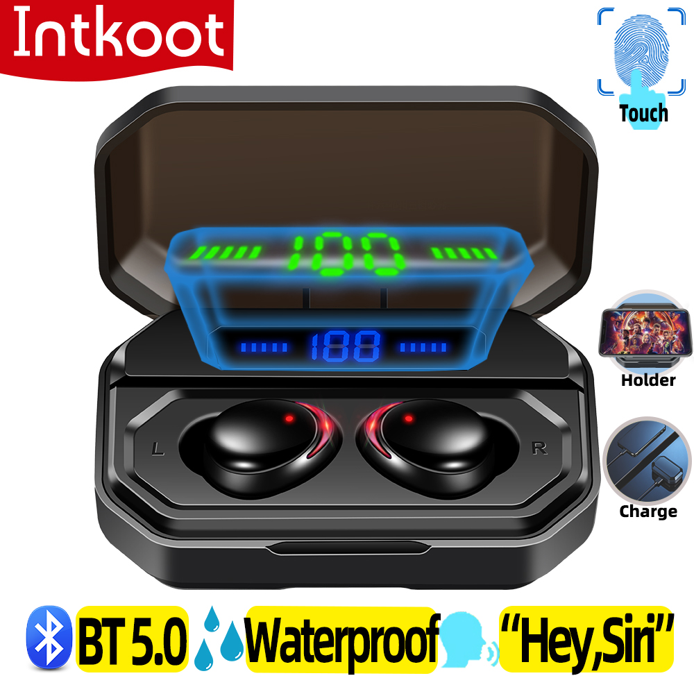 Earphone Bluetooth Headphone Wireless With Microphone Sport Gaming Truly In Ear Headset Tws 3D Stereo Waterproof Noise Canceling