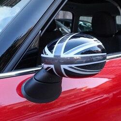 2 uds, cubierta de protección para espejo retrovisor Exterior de coche, decoración para coche, estilo para BMW MINI COOPER S ONE F54 F55 F56 F60 timón derecho
