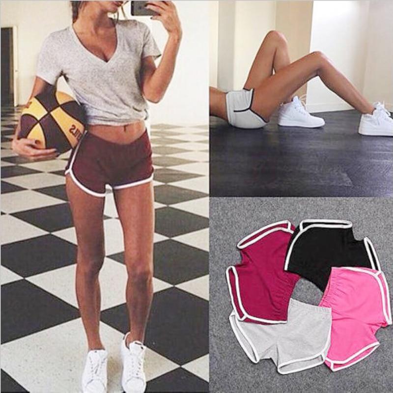 New 1 Pcs Summer Shorts Women Esportes Shorts Workout Waistband Skinny Short Short Deportivo Mujer Women Yoga Shorts Summer Stri