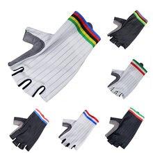 New Pro Aero Cycling Gloves Men Women Team Light Soft Breathable Cool Dry Half Finger Anti Slip Shockproof Road Bike Gloves