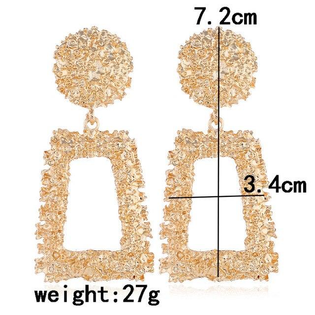 Lzhlq 2 пары висячие серьги женские длинные металлические модные