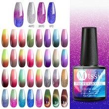 Mtssii 8ml Gel de paillettes thermiques vernis à ongles tremper hors UV Gel vernis température changement de couleur UV Gel vernis vernis à ongles