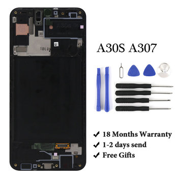 100% teset For A30S A307 lcd display for mobile phone screen replacement digitizer screen assambly For A30S A307 LCD