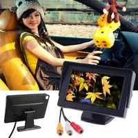 Inalámbrica vista trasera de coche cámara con Monitor Kit de placa de matrícula de respaldo cámara con 4,3
