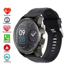 T3 Pro Smart Horloge Dual Tijdzone Sport Mannen Waterdichte Smartwatch Hartslag Business Bluetooth Legering Activiteit Tracker