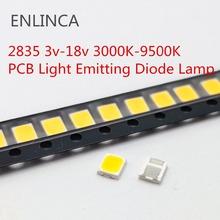Wielka wyprzedaż LED SMD 2835 5730 chipy 1W 3V 6V 9V 18V koraliki światło białe ciepłe 0 5W 1W 130 lm montaż powierzchniowy dioda elektroluminescencyjna lampa tanie tanio ENLINCA Nowy 3v-18v 2835 LED Do montażu powierzchniowego