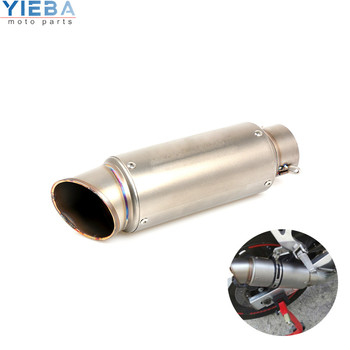 36MM-51MM/61MM Motorcycle Accessories Exhaust Pipe Tailpipe Section For Yamaha MT-07 FZ07 FZ-07 Tracer XSR700 honda CBR125 CB400