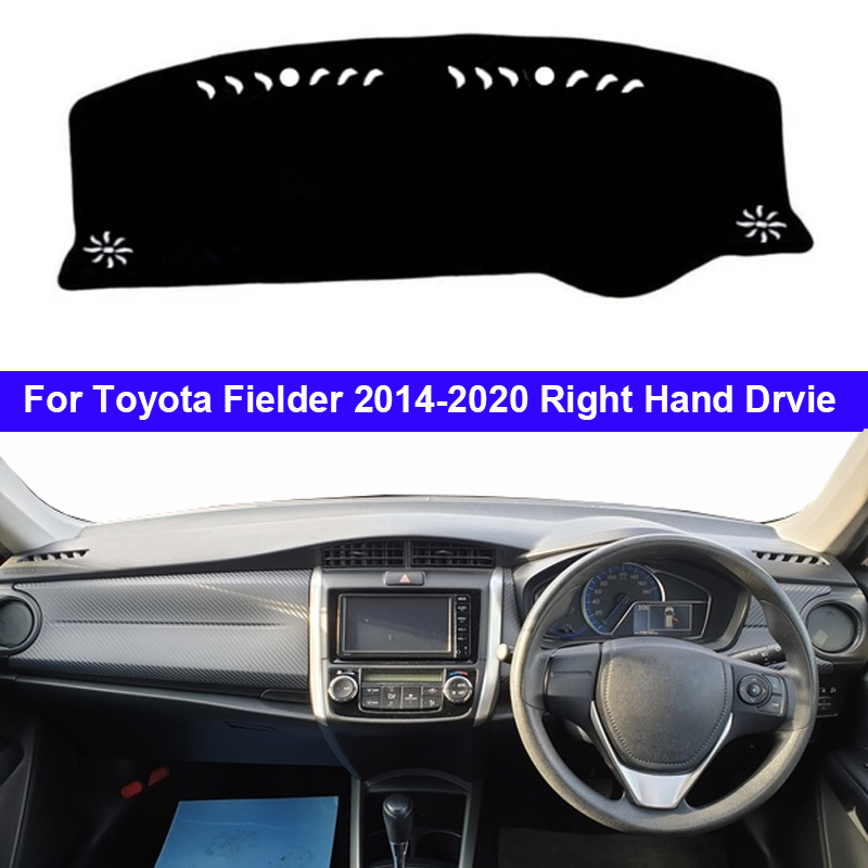 Car Dashboard Cover Dash Mat Carpet Cape For Toyota Fielder 2014 2015 2016 2017 2018 2019 2020 Anti-sun Sun Shade